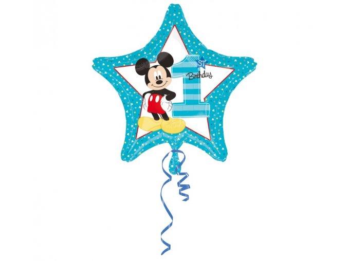 balon foliowy cyfra 1 mickey 1st birthday 18
