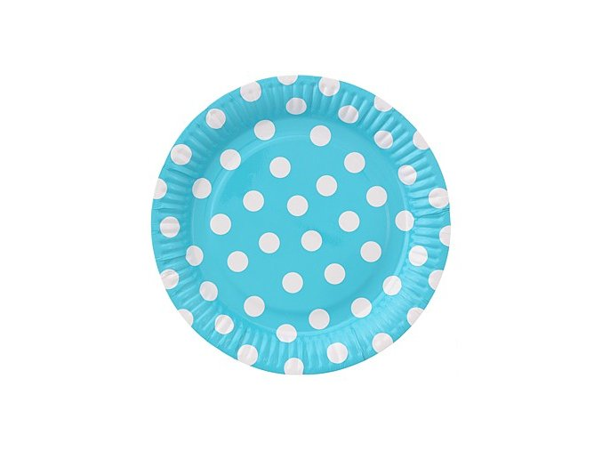 talerzyki papierowe groszki blekitne 23 cm 6
