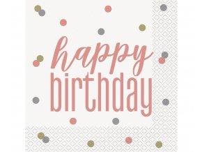 serwetki papierowe glitz happy birthday 33x33 c