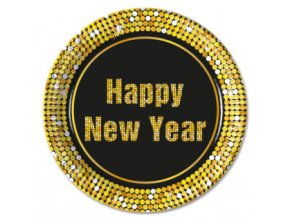 HAPPY NEW YEAR PLATE 23 CM