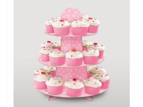 Stojan na muffiny růžový