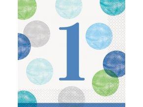 Ubrousky 1.narozeniny modré