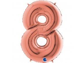 238RG Number 8 Rose Gold 1