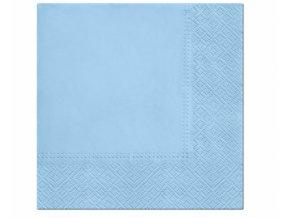 Ubrousky papírové světle modré 20ks