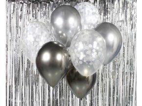 Balónky set stříbrný 7ks