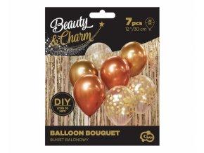 Balónky set zlato-měděný 7ks