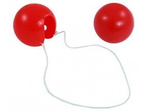 Molitanový červený klaunský nos