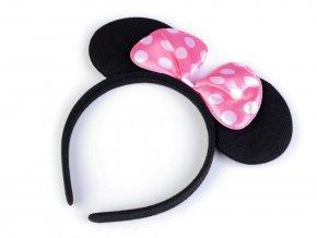 Party čelenka Myška Minnie růžová