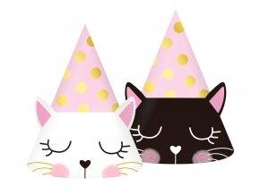 czapeczki papierowe kotek