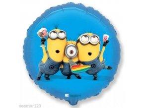 0001955 foliovy balonek mimoni modry 46 cm nebaleny