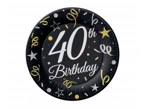 talerzyki 40 urodziny birthday 18 cm