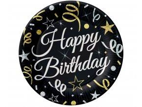 talerzyki urodzinowe happy birthday 23 cm
