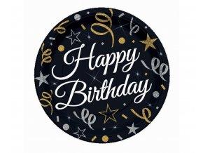 talerzyki urodzinowe happy birthday 18 cm