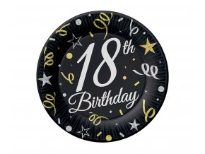 talerzyki 18 urodziny birthday 18 cm