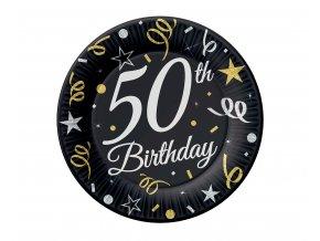 talerzyki 50 urodziny birthday 18 cm