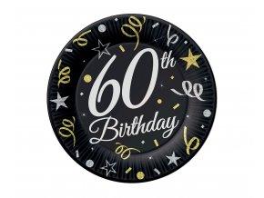 talerzyki 60 urodziny birthday 18 cm