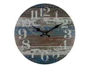 nastenne hodiny barevne drevo