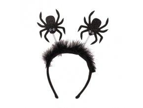 schwarzer haarreif mit stoff fledermaus spinne 40074