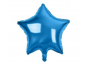 balon foliowy gwiazda niebieska 19