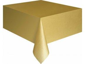 Ubrus plastový zlatý