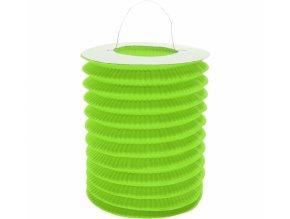 Lampion válec zelený