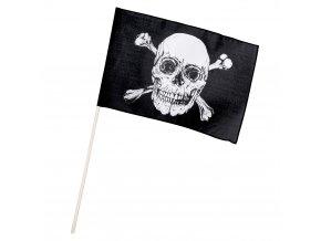 Pirátská vlajka černá