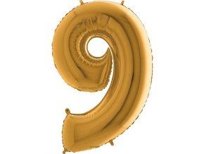 Balon foliove cislo zlate 9 71WGOLD9