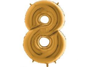 Balon foliove cislo zlate 8 71WGOLD8