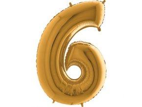 Balon foliove cislo zlate 6 71WGOLD6