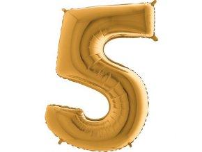 Balon foliove cislo zlate 5 71WGOLD5