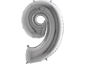Balon foliove cislice stribrne 9 71WSILVER9