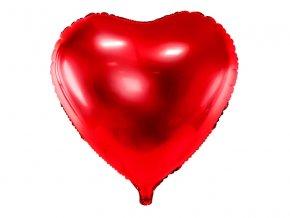 balon serce czerwone