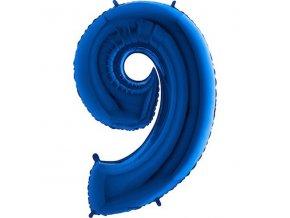Balon foliove cislo modre 9 71WBLUE9