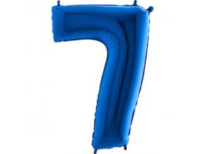 Balon foliove cislo modre 7 71WBLUE7