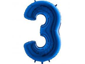 Balon foliove cislo modre 3 71WBLUE3