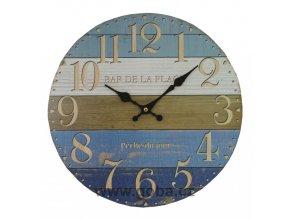 nastenne hodiny modre