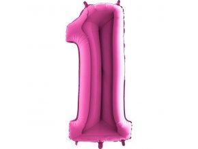 Balon foliove cislo ruzove 1 71WPINK1