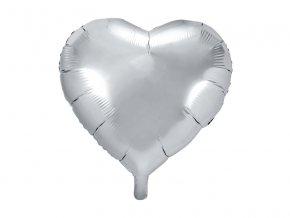 Balonek foliovy srdce stribrne 1052952
