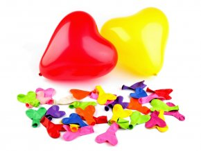 Balonek srdce mix barev 25 cm
