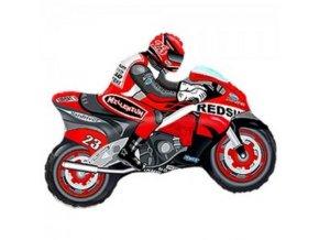 Balonek foliovy motorka cervena 12901663CERV