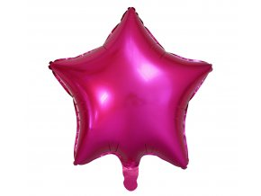 balon foliowy gwiazda ciemnorozowa 19