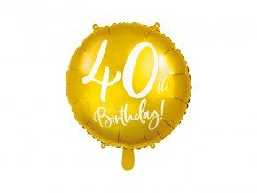 balon liczba 40