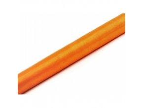 Oranzova organza siroka 55ORP005
