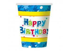 kubeczki papierowe happy birthday niebieskie 27