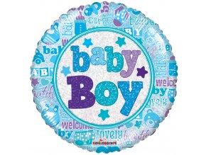 Balonek foliový BABY BOY