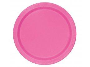 rozowe papierowe talerzyki
