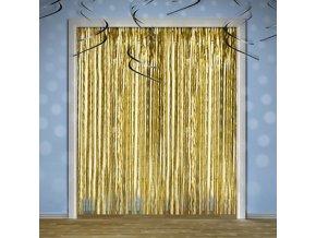 Dekoracni zaves foliovy zlaty 1ks 55CRT019