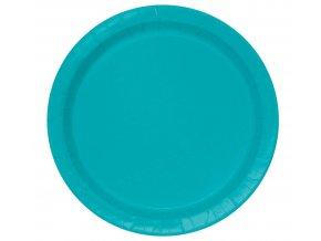 niebieskie papierowe talerzyki