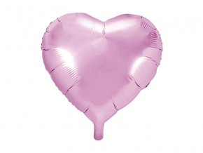 balon serce jasnorozowe hel