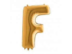 252G Letter F Gold